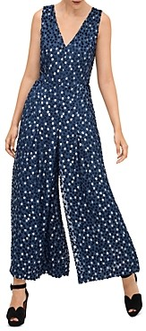 Kate Spade Scatter Dot Burnout Velvet Jumpsuit