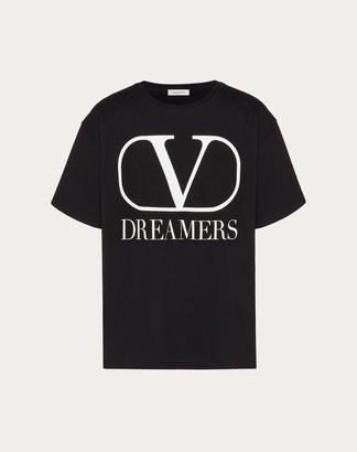 Valentino Vlogo Dreamers T-shirt Man Black/white Cotton 100% M