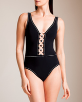 Karla Colletto Rings V-Neck Tank Swimsuit