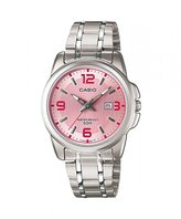 Casio Women's LTP1314D-5AV Silver Stainless-Steel Quartz Watch with Dial