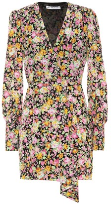 Les Rêveries Exclusive to Mytheresa Floral crepe de chine wrap dress
