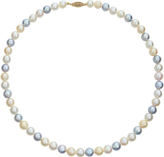 BELPEARL 14K 7.5-8Mm Akoya Pearl Necklace