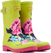 Joules Lime Floral Buckle Rain Boot - Girls