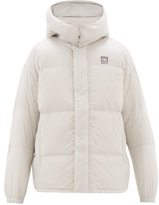 66North - Dyngja Hooded Quilted-down Jacket - Mens - Silver