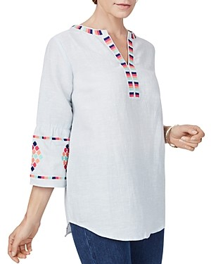 Foxcroft Reagan Embroidered Top