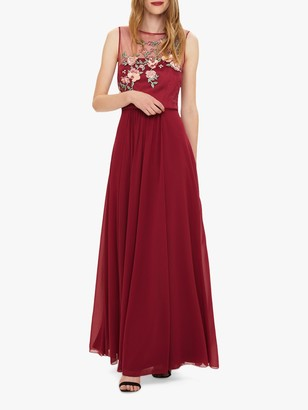 Phase Eight Zanya Embroidered Dress, Magenta