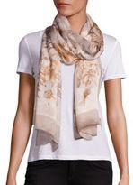 Salvatore Ferragamo Nettare Floral-Print Silk Scarf