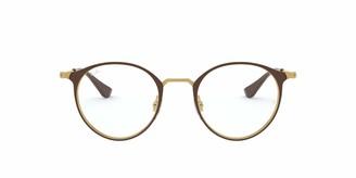 Ray-Ban Unisex's Rx6378 Round Metal Eyeglass Frames Prescription Eyewear