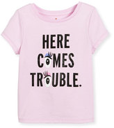 Kate Spade Here Comes Trouble Jersey Tee, Pink, Size 7-14