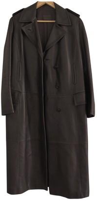Loewe Brown Leather Coat for Women Vintage