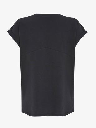 Mint Velvet Grey Zebra Studded T-shirt