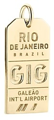 Jet Set Candy Gig Rio de Janeiro Luggage Tag Charm