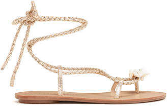 Loeffler Randall Shelly Metallic Wrap Sandals