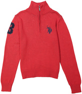 U.S. Polo Assn. Engine Red Zip-Front Logo Sweater - Boys