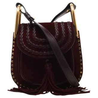 Chloé Hudson Burgundy Suede Handbags