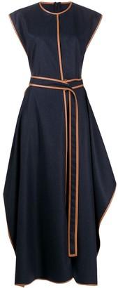 Stella McCartney Eloise contrast-trim maxi-dress