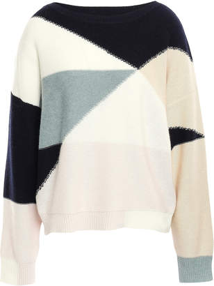 Joie Color-block Wool And Cashmere-blend Sweater