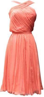 John Galliano Orange Silk Dress for Women Vintage