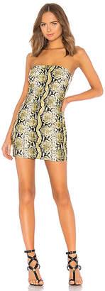 h:ours x Yovanna Ventura Mona Snake Print Tube Dress