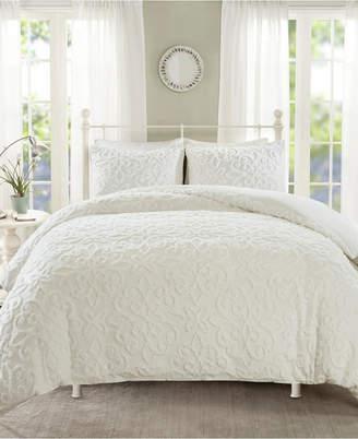 Madison Home USA Sabrina King/California King 3 Piece Tufted Cotton Chenille Duvet Cover Set Bedding