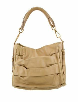 Christian Dior Leather Hobo Bag Tan