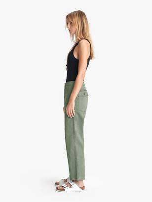 Mother The Patch Pocket Private Ankle Fray - Army Green
