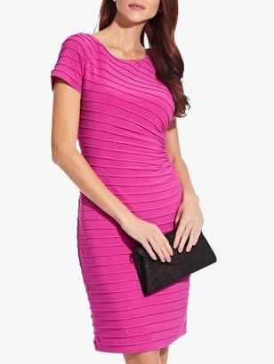 Adrianna Papell Pintuck Drape Sheath Dress