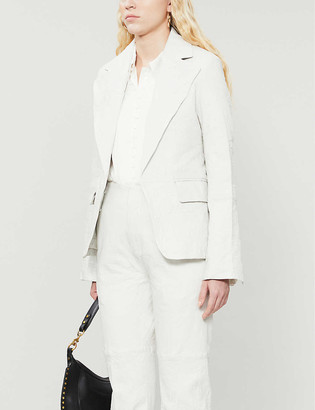 Zadig & Voltaire Vichy single-breasted leather blazer