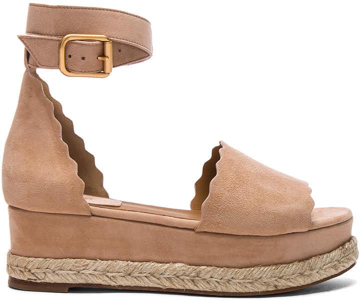 Chloé Suede Lauren Platform Sandals