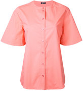 Jil Sander Navy buttoned boxy shirt - women - Cotton/Spandex/Elastane - 38
