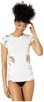 Roxy Fashion Long Sleeve Rashguard (Bright White Tropic Call) Women's Swimwear