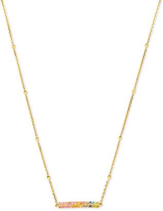 Kendra Scott Remington Pendant Necklace in 14k Gold and White Diamonds