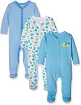 Mothercare Baby Boys' Happy Animals-3 Pack Bodysuit,0-3 Months (Manufacturer Size: up to 3 Mnths-14.5Lbs)