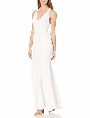 Xscape Evenings Women's Long Crepe Gown with Racer Back