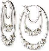 Nine West Silver-Tone Triple Hoop Earrings
