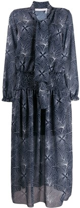 See by Chloe Patterned Tie Neck Shirt Dress
