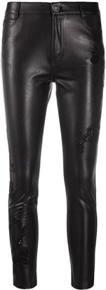 Ermanno Scervino Cropped Skinny Faux Leather Trousers