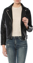 Moon River Faux Leather Biker Jacket