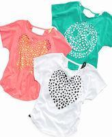 Beautees Kids Shirt, Girls Lazer-Cut Top and Tank