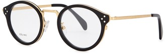 Celine Black round-frame optical glasses