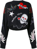 Philipp Plein appliquéd sweatshirt