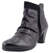 Gabor 95.645 Women Round Toe Leather Black Ankle Boot.