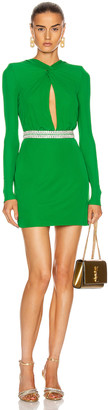 Dundas Keyhole Mini Dress in Emerald | FWRD