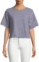 MDS Stripes Women's Bacall Cotton Stripe Tee