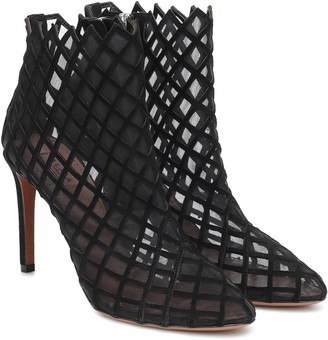 Alaia Suede and mesh ankle boots