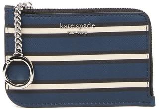 Kate Spade Leather Cameron York Striped Medium L-Zip Wallet