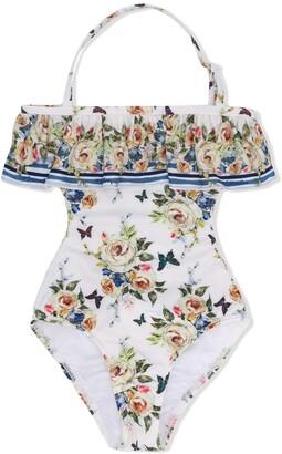 MonnaLisa Rose Print Swimsuit