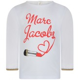 Little Marc Jacobs Little Marc JacobsBaby Girls White Lipstick Top