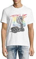 True Religion Cobra Logo World Tour T-Shirt, White