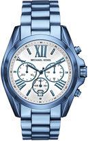 Michael Kors Women's Chronograph Bradshaw Ocean Blue Stainless Steel Bracelet Watch 43mm MK6488